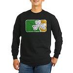 Retro Irish Logo Long Sleeve Dark T-Shirt