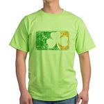 Retro Irish Logo Green T-Shirt