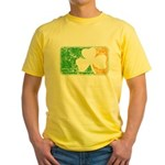 Retro Irish Logo Yellow T-Shirt