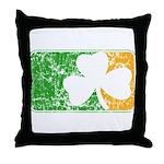 Retro Irish Logo Throw Pillow
