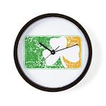 Retro Irish Logo Wall Clock