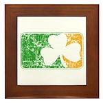 Retro Irish Logo Framed Tile