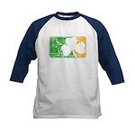 Retro Irish Logo Kids Baseball Jersey