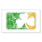 Retro Irish Logo Rectangle Sticker