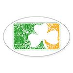 Retro Irish Logo Oval Sticker