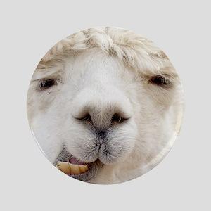 """Funny Alpaca Smile 3.5"""" Button"""
