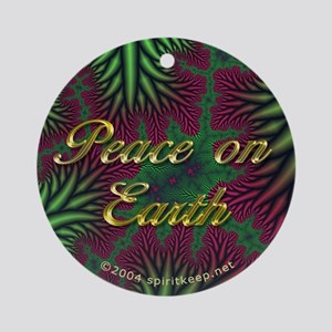 Peace On Earth #1 Christmas Ornament (Round)