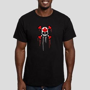 Canadian Punk Skull Men's Fitted T-Shirt (dark)