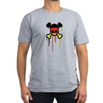 German Punk Skull Men's Fitted T-Shirt (dark)