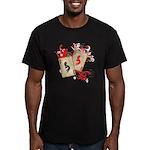 Kokopelli Gambler Men's Fitted T-Shirt (dark)