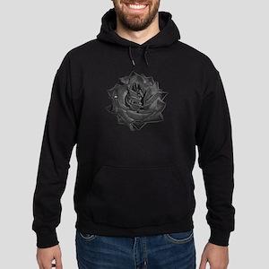 Single Black Rose Hoodie (dark)