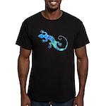 Malachite Blue Gecko Men's Fitted T-Shirt (dark)