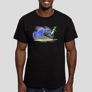 Surfing Gecko Men's Fitted T-Shirt (dark)