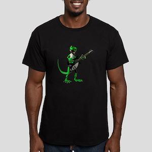 Electric Guitar Gecko Men's Fitted T-Shirt (dark)