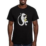 Gecko Saxophone Men's Fitted T-Shirt (dark)