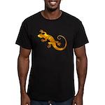 Golden Yellow Gecko Men's Fitted T-Shirt (dark)