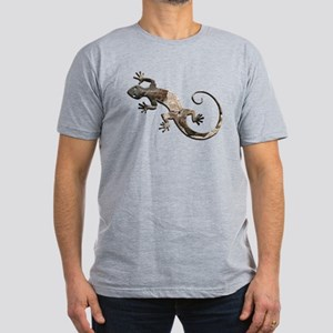 Brown Stone Gecko Men's Fitted T-Shirt (dark)