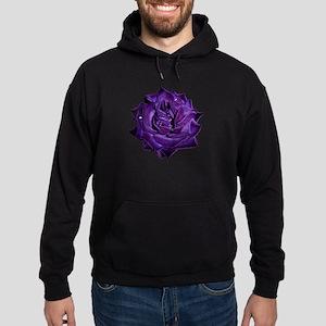 Single Purple Rose Hoodie (dark)