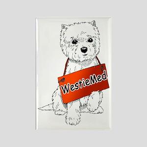 WestieMed Logo Rectangle Magnet