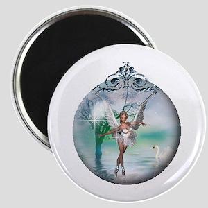 Swan Lake Globe Magnet