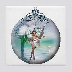 Swan Lake Globe Tile Coaster