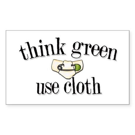 Think Green Rectangle Sticker