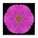 Violet Cosmos I Tile Coaster