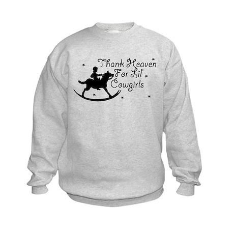 Thank Heaven For Lil' Cowgirl Kids Sweatshirt