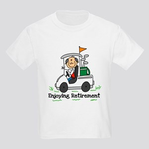 Retired and Golfing Kids Light T-Shirt