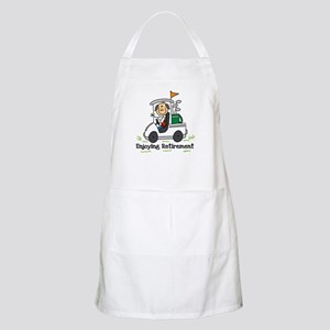 Retired and Golfing BBQ Apron