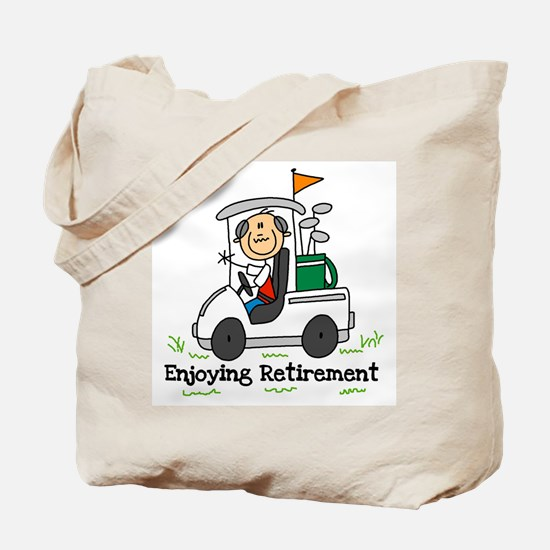 Retired and Golfing Tote Bag