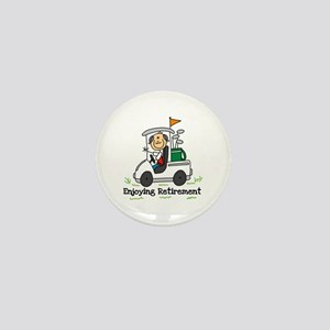 Retired and Golfing Mini Button