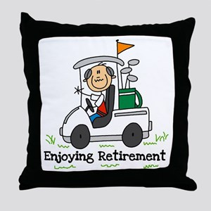 Retired and Golfing Throw Pillow
