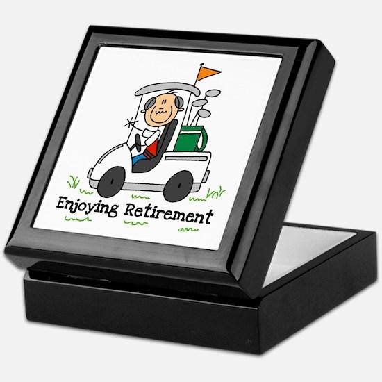 Retired and Golfing Keepsake Box