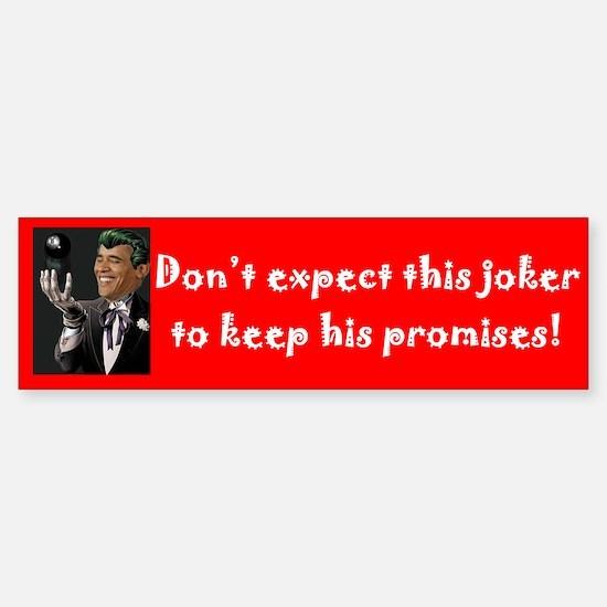 """The Joker"" Bumper Bumper Bumper Sticker"