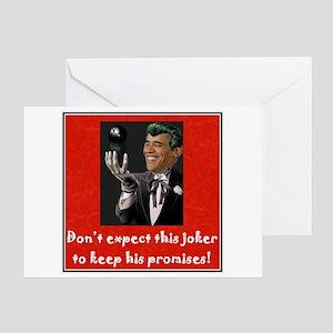 Obama joker greeting cards cafepress the joker greeting card m4hsunfo Images