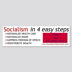 ANTI-Socialism Bumper Sticker