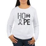Brain Cancer Hope Women's Long Sleeve T-Shirt