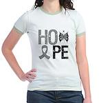 Brain Cancer Hope Jr. Ringer T-Shirt