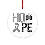 Brain Cancer Hope Ornament (Round)
