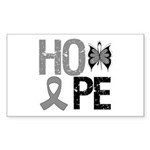 Brain Cancer Hope Rectangle Sticker 50 pk)