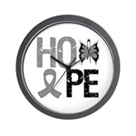 Brain Cancer Hope Wall Clock