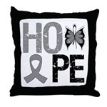 Brain Cancer Hope Throw Pillow