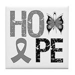 Brain Cancer Hope Tile Coaster