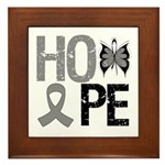 Brain Cancer Hope Framed Tile