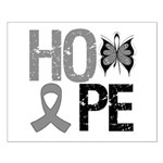 Brain Cancer Hope Small Poster
