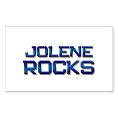 jolene rocks Rectangle Decal