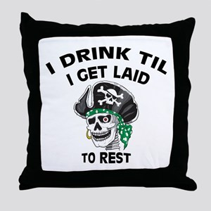 Drinking Irish Ass Pirate: Throw Pillow