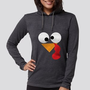 Funny Turkey Thanksgiving Face Long Sleeve T-Shirt