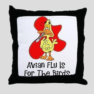 Avian Flu Throw Pillow